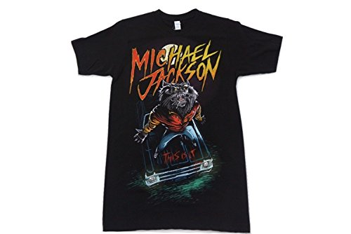 f6ed6ff45edb Michael Jackson Werewolf Thriller Black T Shirt Adult Size Medium