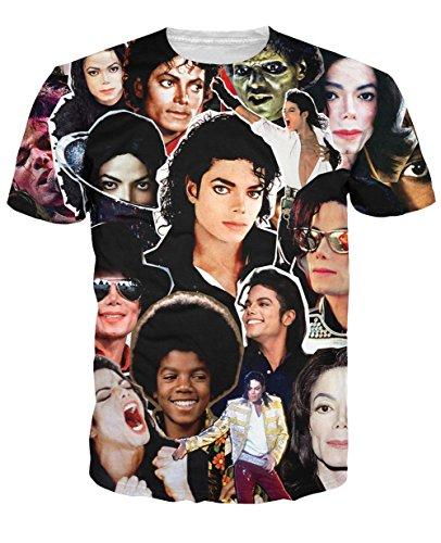 7d3bba4f Snlydtan Classic King of Pop Michael Jackson MJ Tee Shirts XL